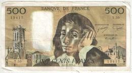 500 F Pascal - 6-11-1975 - T 50 13417 - 1962-1997 ''Francs''
