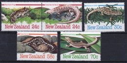 New Zealand 1984 Set Of Stamps To Celebrate Amphibians And Reptiles. - Unused Stamps