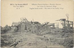 GUERRE 14 18 BIACHES OFFENSIVE FRANCO ANGLAISE LES RUINES DU CHARMANT VILLAGE - France