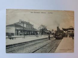 CPA Les Laumes - Alésia La Gare Train Voyagée - Venarey Les Laumes