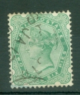 India: 1892/97   QV     SG104    2a 6p    Pale Blue-green      Used - India (...-1947)