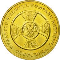 Monnaie, Pologne, First Cadre March, 2 Zlote, 2009, Warsaw, TTB, Laiton, KM:690 - Polonia