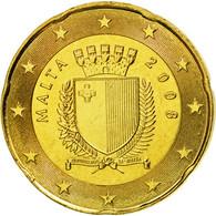 Malte, 20 Euro Cent, 2008, SUP, Laiton, KM:129 - Malta