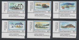 Ross Dependency 1982 Definitives 6v (corner) ** Mnh (40898) - Ross Dependency (Nieuw-Zeeland)