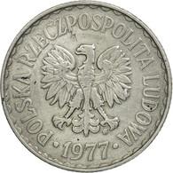 Monnaie, Pologne, Zloty, 1977, Warsaw, TTB, Aluminium, KM:49.1 - Polonia