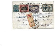 SH 0239. N° 141-144-145-146 Ste ADRESSE/POSTE BELGE 28.X.15 S/CP RECOMMANDEE V. Chiswick (Angleterre). TB - Army: Belgium