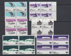 Ross Dependency 1972 Definitives 6v Bl Of 4 ** Mnh (40898B) - Ross Dependency (Nieuw-Zeeland)