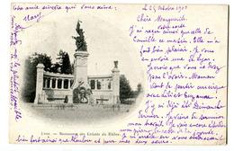CPA 69 LYON Monument Des Enfants Du Rhone ( Circulée 1900 ) - Lyon