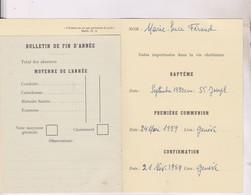BULLETIN MENSUEL CATECHISME PRIMAIRE 1959/1960  DIOCESE DE LAUSANNE, GENEVE, FRIBOURG - Diplômes & Bulletins Scolaires