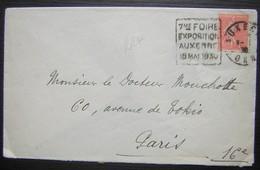 Auxerre 1930 Oblitération Daguin 7eme Foire Exposition 18 Mai 1930 - Marcophilie (Lettres)