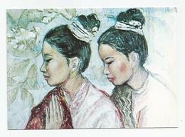 Laos - Peinture De Nguyen Cam Femmes Cpm - Laos