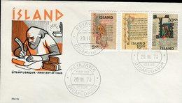 Iceland/Islande/Ijsland FDC 20.III.1970 Old Icelandic Manuscripts Matching Cover FM 91 - FDC