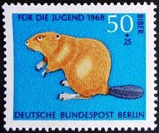 GERMANY #318    BEAVER  - BIBER - CASTORO -1968 - Knaagdieren