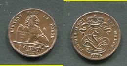 BELGIQUE - LEOPOLD II - 1 CENTIME 1875 SUPERBE !!! - 1865-1909: Leopold II