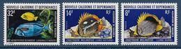 CALEDONIE - YVERT N° 387/388+ PA145 ** MNH - COTE = 17.1 EUR. - FAUNE ET FLORE - POISSONS - New Caledonia