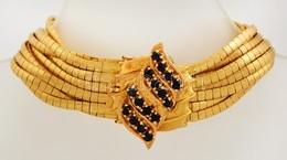 Több Soros 18K Arany Karlánc. Jelzett, Bőr Tokkal.  / 18 C Massive Gold Bracelet With Leather Case 78,4 G 20 Cm - Jewels & Clocks