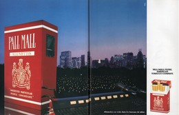 Ancienne Publicité Papier - Advertising Paper - Pall Mall Allumettes  2 Pages - Publicités