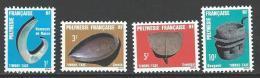"""Polynésie Taxe Yt 4 à 7 """" Artisanat """" 1984 Neuf** - Timbres-taxe"""