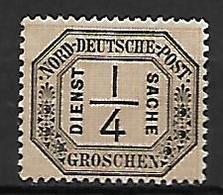 CONF. De L' ALLEMAGNE Du NORD  -  Service  -   1870 .  Y&T  N° 1 (*) .  Cote 35,00 Euros. - Conf. De L' All. Du Nord