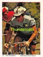 CHROMO VIGNETTE CYCLISME 8 Cm X 6 Cm  No  78 TONI HOUBREGTS BELGIE BELGIQUE - Cyclisme