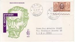 "1967 - FDC  "" MONTEVERDI "" VENETIA VIAGGIATA VEDI++++ - 6. 1946-.. Repubblica"