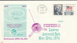 ESPACE - LETTRE - USA-  20/03/1974 - PIONEER 11 - Etats-Unis