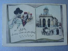 De SPA Je Vous Envoie Ces Jolies Fleurs En 1900 - Spa