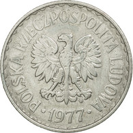 Monnaie, Pologne, Zloty, 1977, Warsaw, TB+, Aluminium, KM:49.1 - Polonia