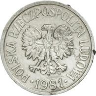 Monnaie, Pologne, 10 Groszy, 1981, Warsaw, TB+, Aluminium, KM:AA47 - Polonia