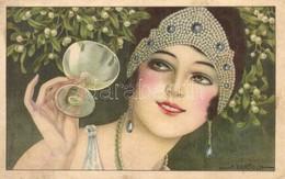 ** T2/T3 Lady With Mistletoe, Italian Art Postcard, CCM No. 2523. S: A. Bertiglia (EK) - Postcards