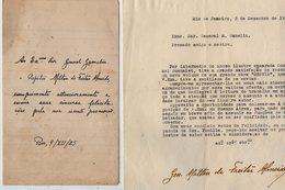 VP13.103 - RIO DE JANEIRO 1925 / 48 - 2 Lettres De Mr Le Capitao MILTON DE FREITAS ALMEIDA  Pour Mr Le Gal GAMELIN - Documents