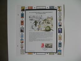 Timbre   Charles De Gaulle   Document 38 ème Anniversaire Du Débarquement En Normandie  à Voir - De Gaulle (General)