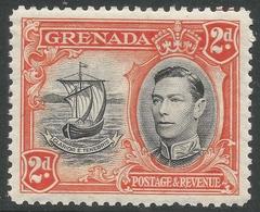Grenada. 1938-50 KGVI. 2d MH. P12½ SG 156 - Grenada (...-1974)