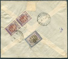 1926 Persia Iran Regne De Pahlavi Overprints Registered Rate (underpaid?) Cover. Abadan Bouchir Isfahan Dehkord - Iran