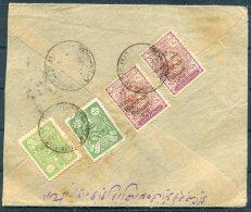 1927 Persia Iran Regne De Pahlavi Overprints / 1926 Shah Issue Mixed Franking Registered Rate Cover. Teheran - Isfahan - Iran