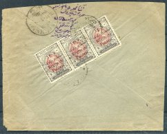 1926 Persia Iran Regne De Pahlavi Overprints Registered + Advice Of Reciept Rate Cover. Hamadan - Senneh - Iran