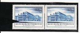 LVT444 ÖSTERREICH 1955 Michl 1021 PLATTENFEHLER FARB-STRICH Mit VERGLEICHSTÜCK ** Postfrisch - Variétés & Curiosités