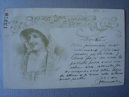 Salut De SPA Dans Le Style Art Nouveau (voir Au Verso) En 1907 -  Carte Exceptionnelle - Spa