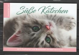 Austria 2018 Cats Stamp Booklet With 8 Stamps + 8 Postcards MNH - Gatos Domésticos