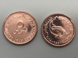 UAE United Arab Emirates 2018 UNC Five 5 Fils Circulation Coin New Release - United Arab Emirates