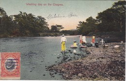 POSTAL DE PANAMA DE WASHING DAY ON THE CHAGRES DEL AÑO 1914 (L. MADURO) - Panamá