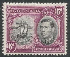 Grenada. 1938-50 KGVI. 6d MH. P12½ SG 159 - Grenada (...-1974)