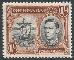 Grenada. 1938-50 KGVI. 1/- MH. P12½ SG 160 - Grenada (...-1974)