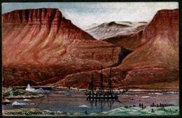 Ref 1228 - 1910 Raphael Tuck Postcard - Sailing Ship At Godhaven Disco Island Greenland - Groenlandia
