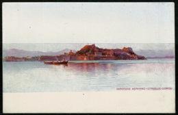 Ref 1228 - Early Greece Postcard - Citadelle Corfou Corfu - Ionian Islands - Greece