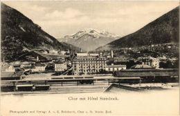 CPA CHUR Mit Hotel Steinbock SWITZERLAND (705271) - GR Grisons