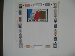 Timbre   Charles De Gaulle   Yemen  Timbre Or  à Voir - De Gaulle (General)