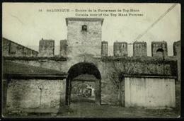 Ref 1228 - Early Greece Postcard - Top Hane Fortress - Salonica Salonique Thessaloniki - Greece