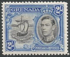 Grenada. 1938-50 KGVI. 2/- MH. P12½ SG 161 - Grenada (...-1974)