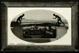 "Ref 1228 - Real Photo Postcard - ""Achilleion"" Le Jardin - Corfou Corfu Greece - Greece"